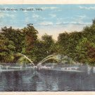Lake at Zoological Gardens in Cincinnati Ohio OH Vintage Postcard - 4795