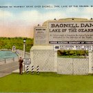 Entrance Sign Bagnell Dam Ozarks Missouri MO 1947 Linen Postcard - 4834