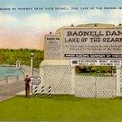 Entrance Sign Bagnell Dam Ozarks Missouri MO 1947 Linen Postcard - 4834