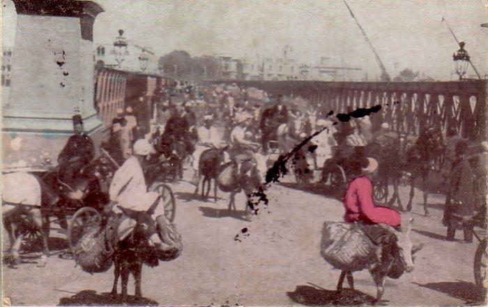 The Great Nile Bridge in Egypt 1912 Vintage Postcard - 4837
