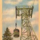 Cannon Mountain Tramway in Franconia Notch New Hampshire NH Linen Postcard - 4852
