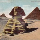 Sphinx and Pyramids near Cairo Egypt Vintage Postcard - 4879