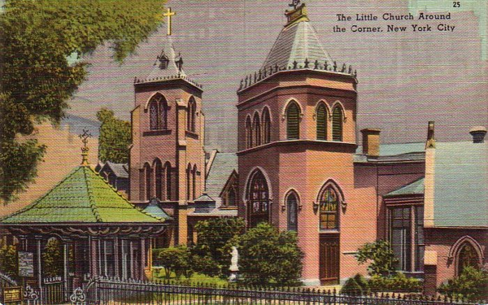 The Little Church Around the Corner New York City NY  Linen Postcard - 4892