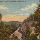 Scenic Drive in Beautiful Missouri Ozarks 1942 Curt Teich Linen Postcard - 4895