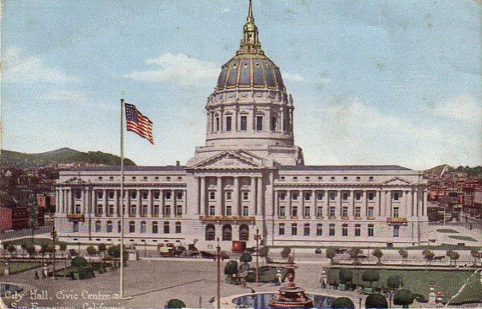 City Hall San Francisco California CA Edward H. Mitchell Vintage Postcard - 4916