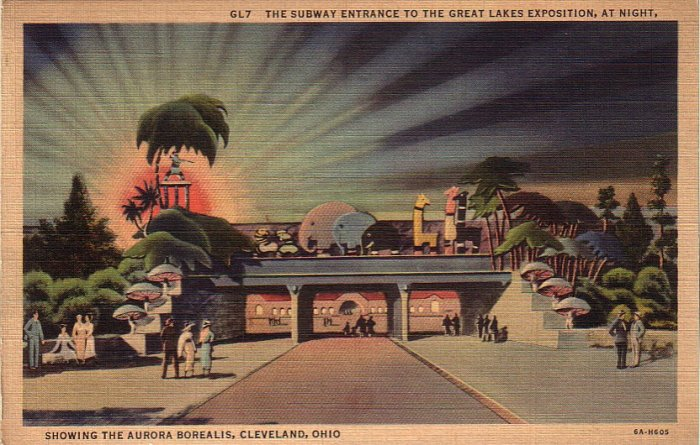 Subway Entrance to The Great Lakes Exposition Cleveland Ohio OH Postcard - 4934