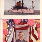 Admiral Evans and the Cruiser Washington  1912 Vintage Postcard - 4936