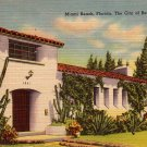Spanish Style Home in Miami Beach Florida FL 1943 Linen Postcard - 4951