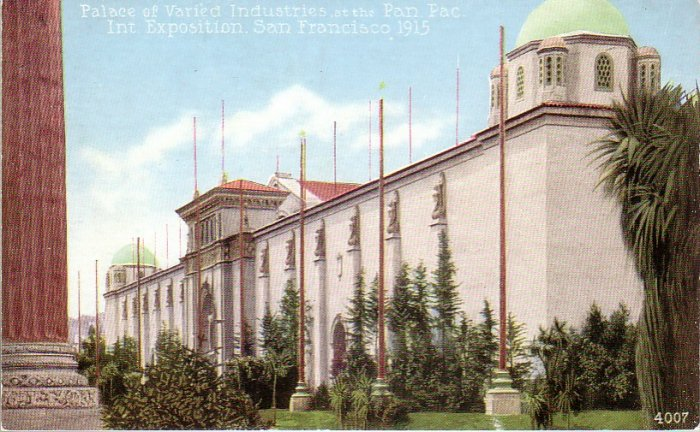 Palace of Varied Industries 1915 Panama Pacific International Exposition Mitchell Postcard - 4975