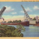 Erie Avenue Bascule Span Bridge at Lorain Ohio OH 1940 Curt Teich Postcard - 4994