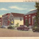 Post Office on Main Street in Hamburg New York NY 1946 Linen Postcard - 5002