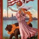 1910 Admission Day Festival in San Francisco California CA Edw H Mitchell Postcard - 5008