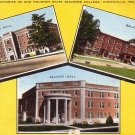 Sam Houston State Teachers College in Huntsville Texas TX Postcard - 5015