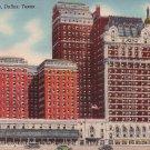 Hotel Adolphus in Dallas Texas TX Mid Century Linen Postcard - 5022