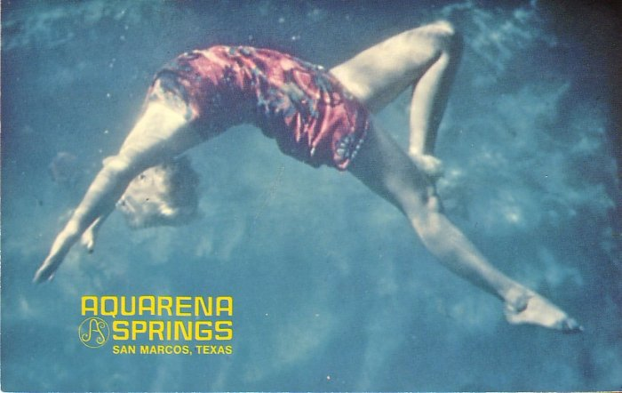 Underwater Ballet at Aquarena Springs San Marcos Texas TX Chrome Postcard - 5025