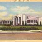 Junior College in Paris Texas TX 1943 Curt Teich Linen Postcard - 5026