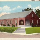 Church of Christ in Jasper Texas TX 1941 Curt Teich Linen Postcard - 5030