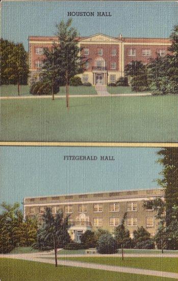 Texas State College for Women Denton TX 1948 Postcard - 5046