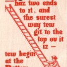 Josh Billings Quotation on 1907 Vintage Postcard - 5051