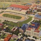 Creighton University Stadium in Omaha Nebraska NE Linen Postcard - 5078