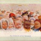 All Kinds of Little Troubles, Babies of Many Lands Vintage Postcard - 5085