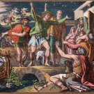 Shepherds Announcing the Birth of Jesus Christ Vintage Postcard - 5087