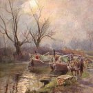Evening on the Canal, Raphael Tuck & Sons 1904 Vintage Postcard - 5090