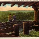 View of Ozarks from White Rock Mountain 1939 Curt Teich Linen Postcard - 5093