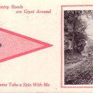Come Take a Spin With Me 1913 Pennant Vintage Postcard - 5101