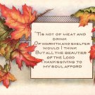 Whitney Thanksgiving Vintage Postcard - 5106