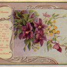 Language of Flowers, Yellow Cowslips Meaning Winning Grace 1911 Vintage Postcard - 5112
