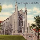 The Co-Cathedral of Christ the King at Atlanta Georgia GA Linen Postcard - 5115