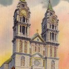 Notre Dame Cathedral Fall River Massachusetts MA Linen Postcard - 5118