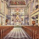 Interior of St. Louis Cathedral in New Orleans Louisiana LA Linen Postcard - 5126