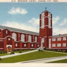 Methodist Church in Johnson City Tennessee TN Linen Postcard - 5131
