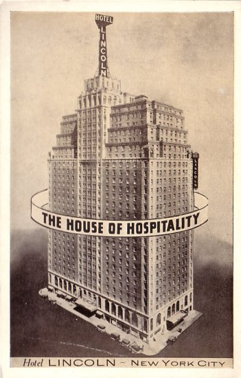 Hotel Lincoln in New York City NY Vintage Postcard - 5132