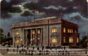 Washington State Building at AYPE 1909 Exposition Vintage Postcard - 5135