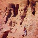 Rock Temple at Abu Simbel Egypt Vintage Postcard - 5139