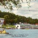 Scenic View of Rockaway Beach on Lake Taneycomo Missouri MO 1950 Postcard - 5151