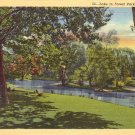 Lake in Forest Park St. Louis Missouri MO 1940 Curt Teich Linen Postcard - 5155