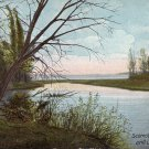 Scomotion River and Lake Champlain New York NY 1915 Vintage Postcard - 5165