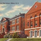 Charles L Coon High School Wilson North Carolina NC Linen Postcard - 5169