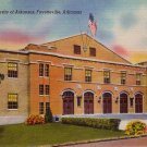 Field House University of Arkansas Fayetteville AR Linen Postcard - 5184