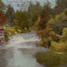 Trout Falls near Sparta Wisconsin WI 1914 Vintage Postcard - 5186