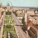 Market Street and Aloe Plaza in St. Louis Missouri MO Chrome Postcard - 5200