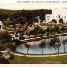 Confederate Park and Scottish Rite Memorial in Jacksonville Florida FL Postcard - 5208