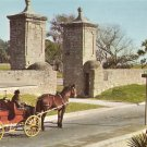 The Old City Gate in St. Augustine Florida FL Chrome Postcard - 5221