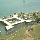 Airial view of Castillo De San Marcos in St. Augustine Florida FL Chrome Postcard - 5223