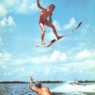 Helicopter Spin Ski Jump at Cypress Gardens Florida FL 1954 Chrome Postcard - 5234