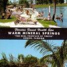Warm Mineral Springs in Venice Florida FL Curt Teich 1956 Chrome Postcard - 5252